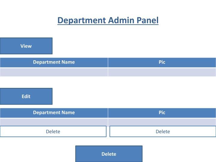 Department Admin Panel