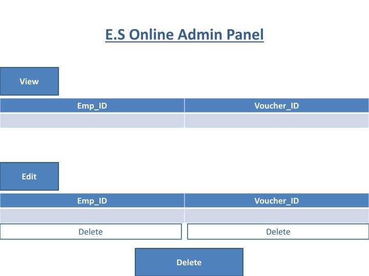 E.S Online Admin Panel