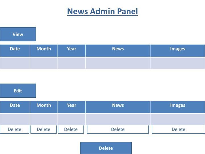 News Admin Panel