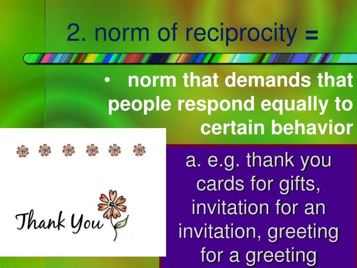 2. norm of reciprocity