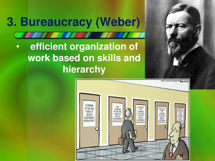 3. Bureaucracy (Weber)