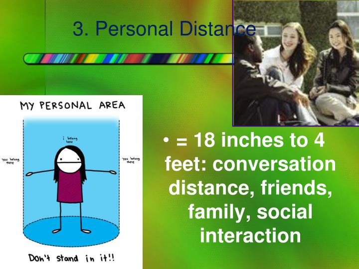 3. Personal Distance