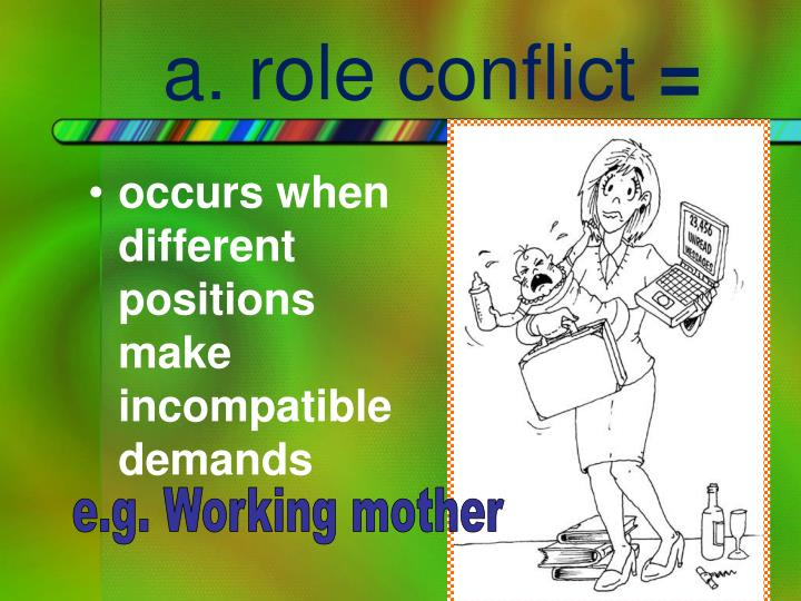 a. role conflict