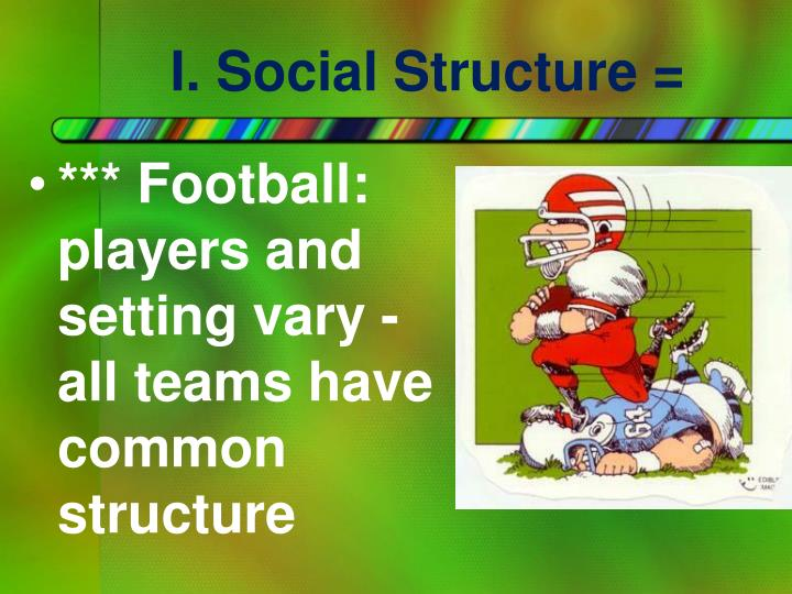 I social structure