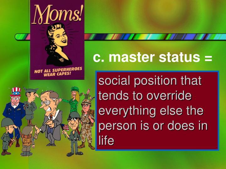 c. master status