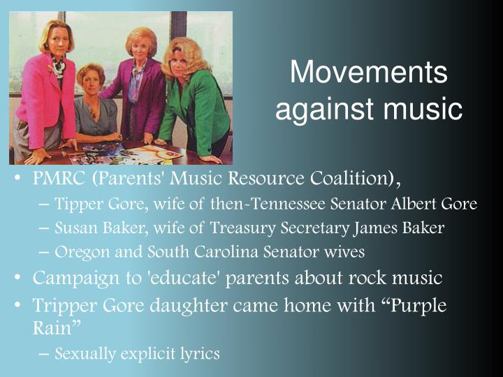 Movements against music