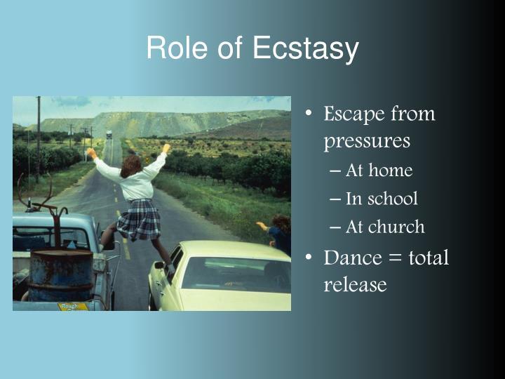 Role of Ecstasy