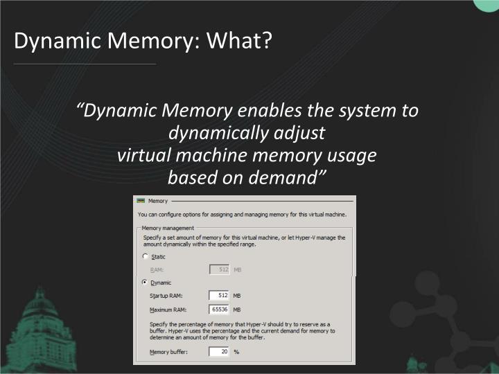 Dynamic Memory: What?