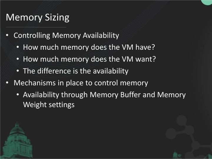 Memory Sizing