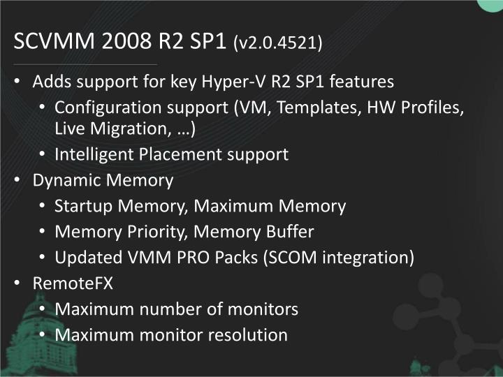 SCVMM 2008 R2