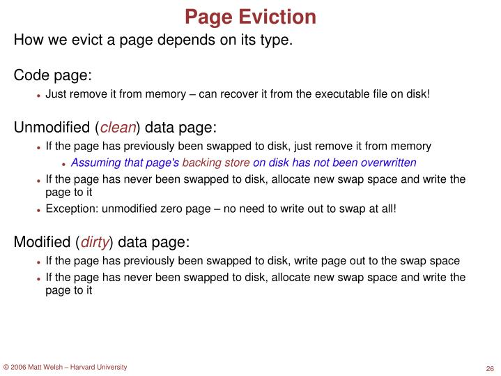 Page Eviction