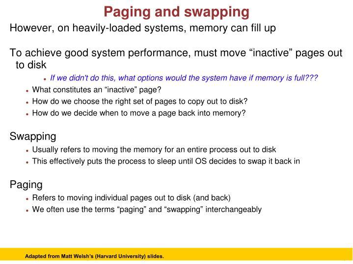 Adapted from Matt Welsh's (Harvard University) slides.