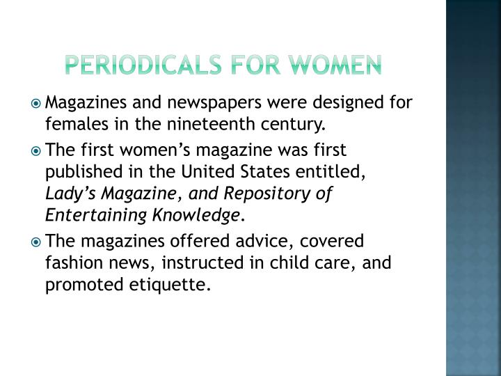 Periodicals for women