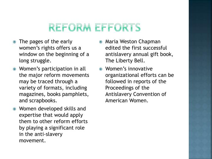 Reform efforts