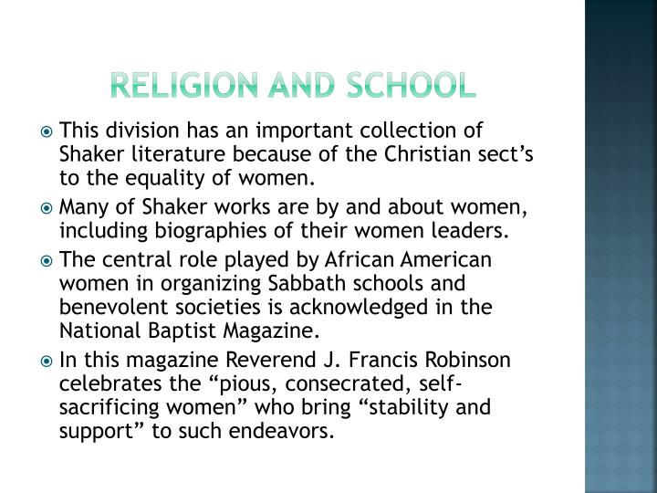 religion and school