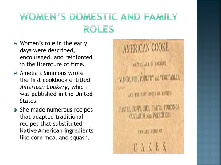 Women s domestic and family roles