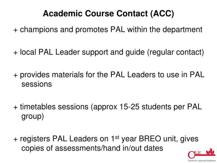 Academic Course Contact (ACC)