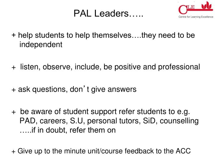 PAL Leaders…..