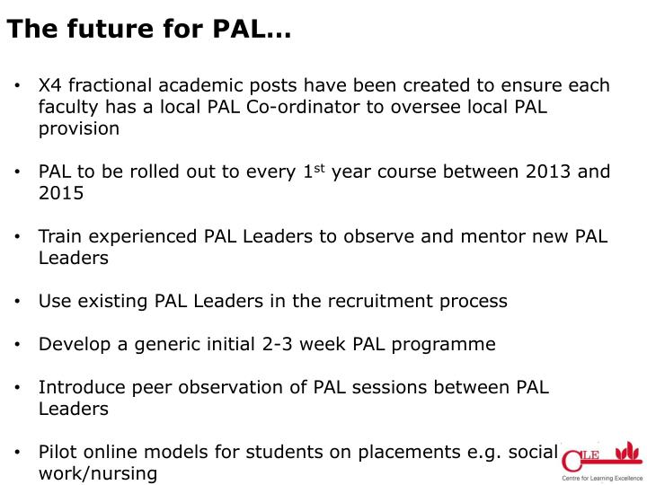 The future for PAL…