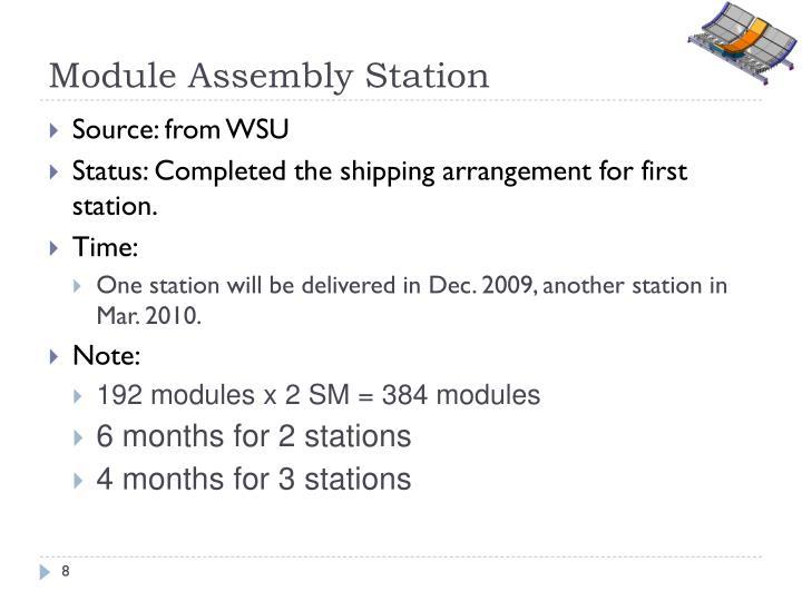 Module Assembly Station