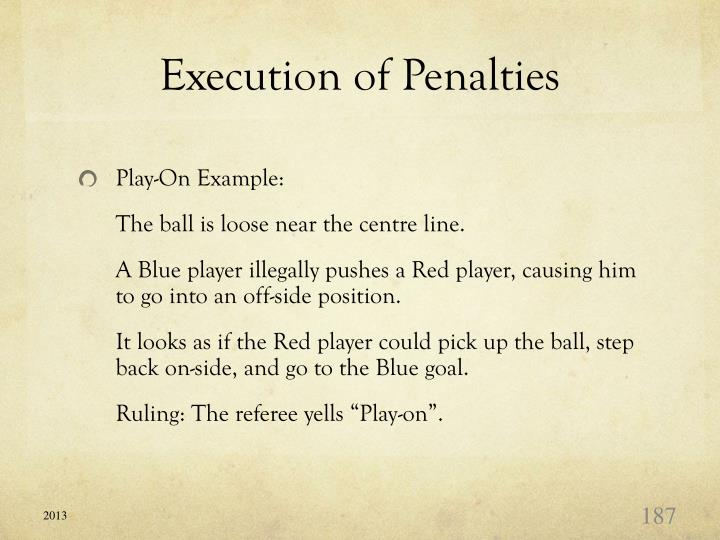 Execution of Penalties