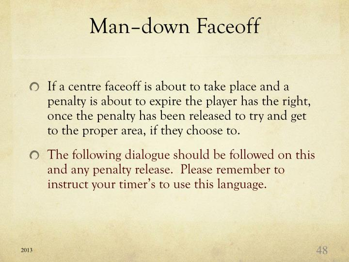Man–down Faceoff