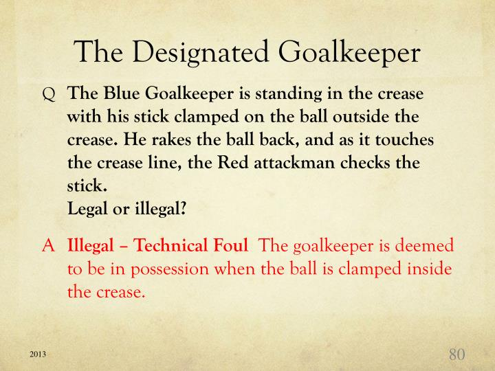 The Designated Goalkeeper