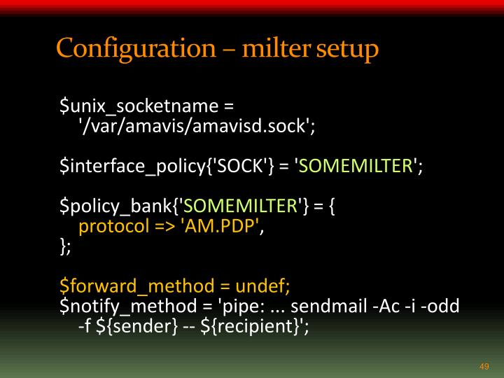 Configuration –