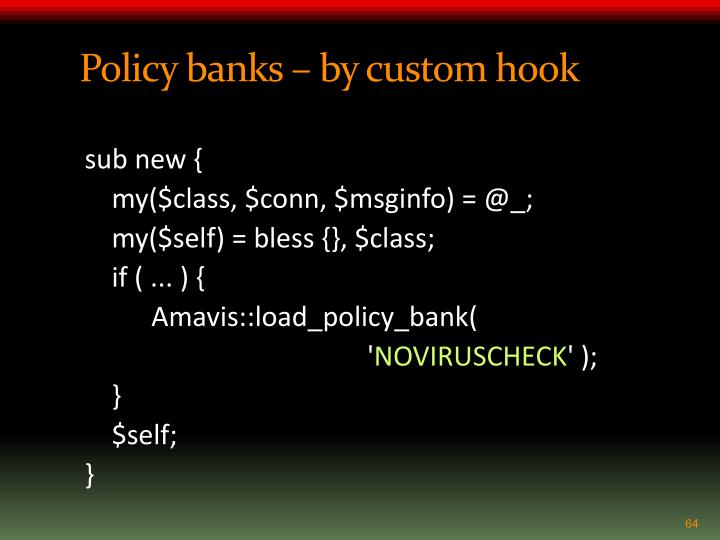 Policy banks – by custom hook