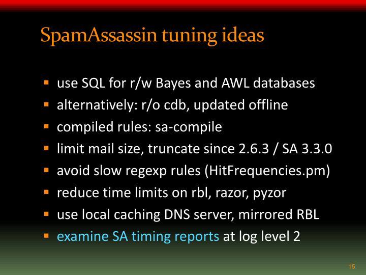 SpamAssassin tuning ideas