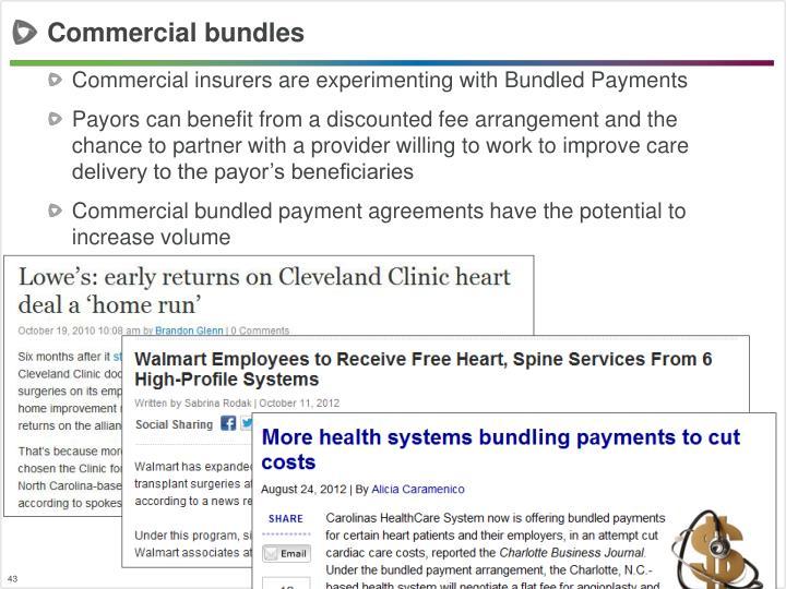 Commercial bundles