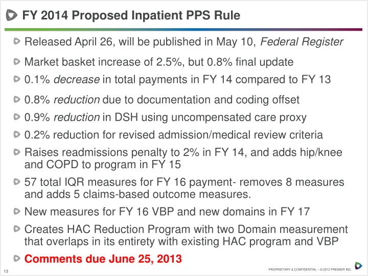 FY 2014 Proposed Inpatient PPS Rule