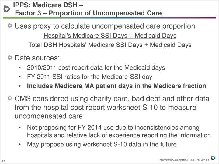 IPPS: Medicare DSH –