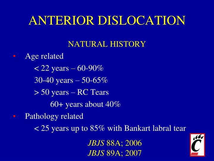 ANTERIOR DISLOCATION