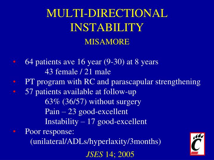 MULTI-DIRECTIONAL INSTABILITY