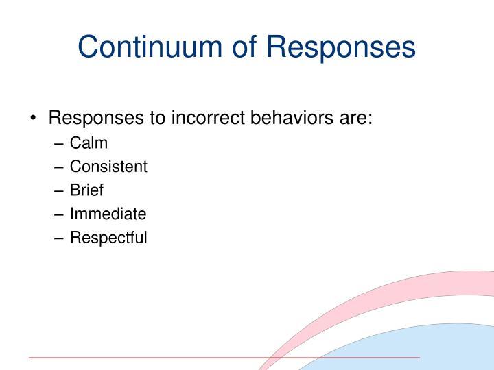 Continuum of Responses