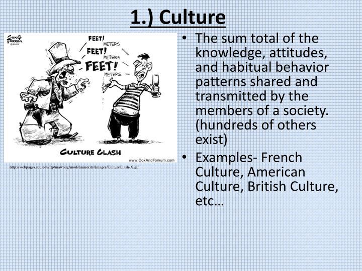 1.) Culture