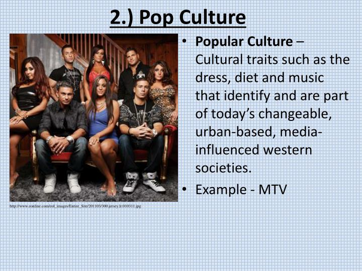 2.) Pop Culture