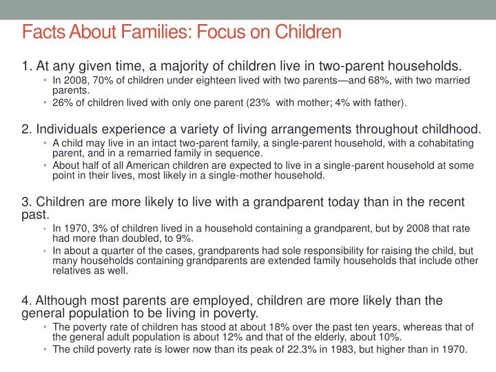 Facts About Families: Focus on Children