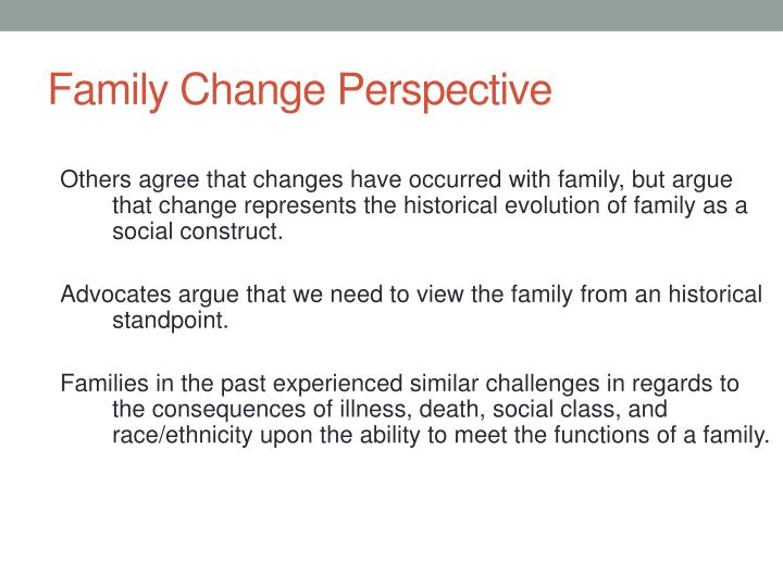 Family Change Perspective