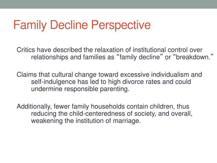 Family Decline Perspective