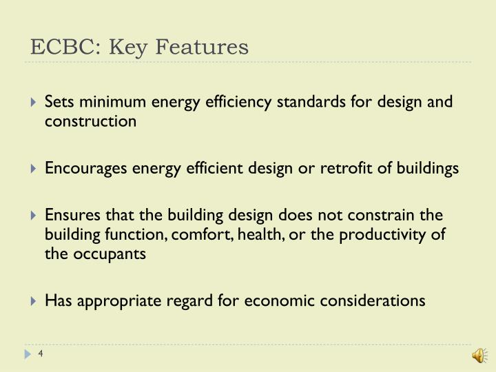 ECBC: Key Features