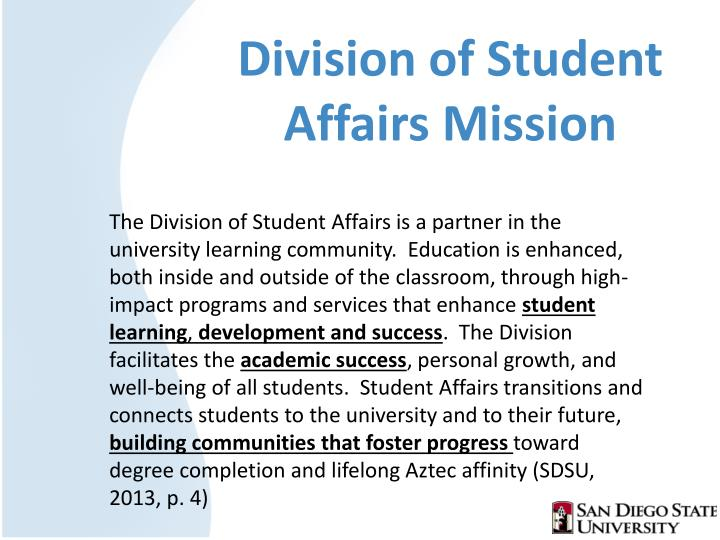 Division of Student Affairs Mission