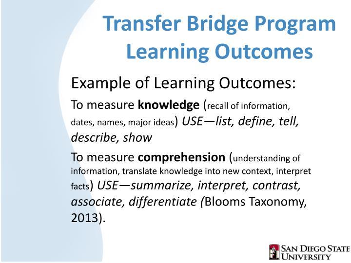 Transfer Bridge Program