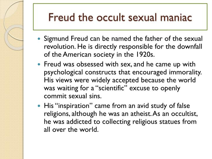 Sigmund freud and the sex revolution