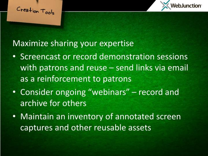 Maximize Sharing Expertise