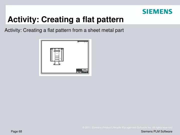 Activity: Creating a flat pattern