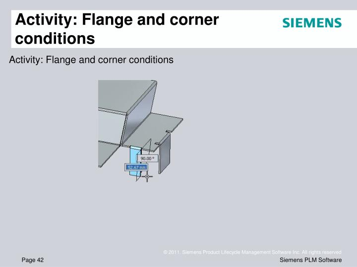 Activity: Flange and corner conditions