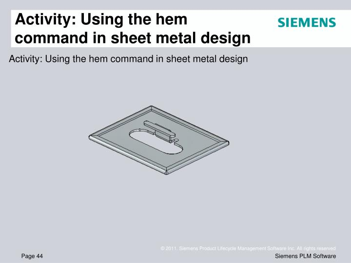 Activity: Using the hem command in sheet metal design