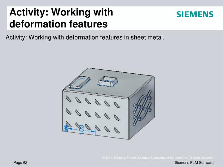 Activity: Working with deformation features